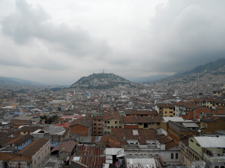 A view of Quito from the Basilica. Doesn't do it justice.