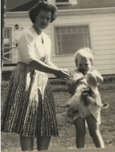 My mom and my grandmother, Rockingham, Nova Scotia, Canada, August 1961